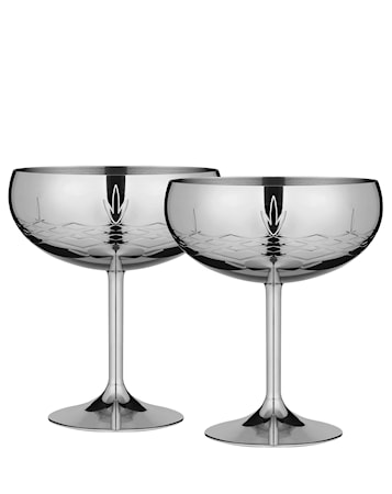 Crispy Gatsby Cocktailglas Silver 30 cl 2-pack