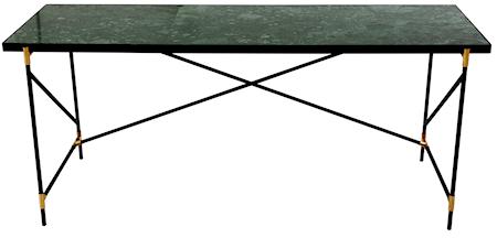 Handvärk skrivbord m mässing