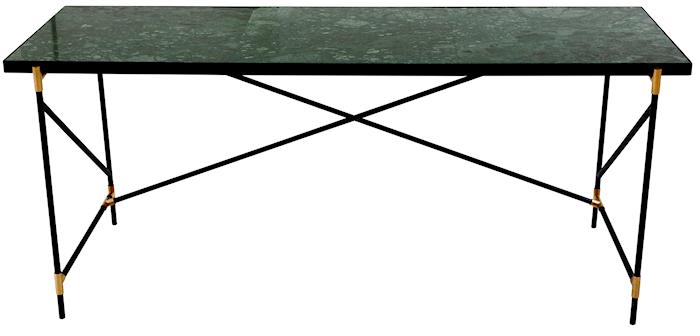 Handvärk skrivbord m mässing - Grön