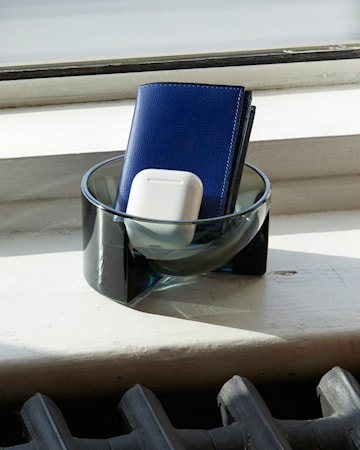 Kuru Glasskål Grå 13x6 cm
