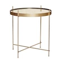 Bord, rund, gull, metall/speil