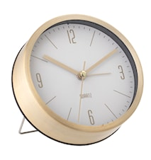 Table Clock, Kulta, Aluminum