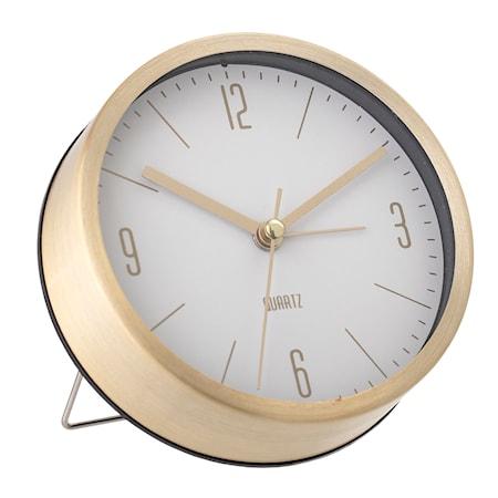 Table Clock Gold Aluminum