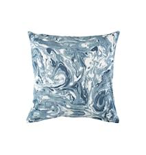Putetrekk Marmor 50x50 cm - Eskeblå
