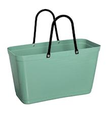 Väska Stor Green Plastic Olivgrön