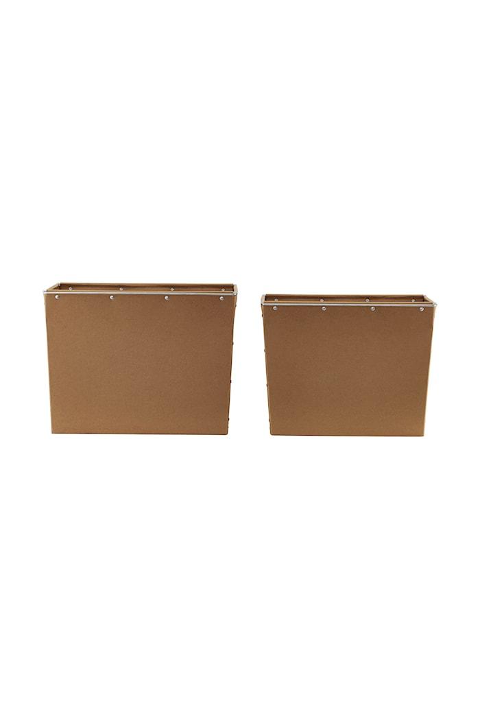 Boîtes de conservation naturel/marron lot de 2 34x40 cm