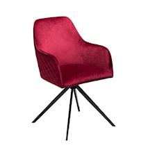 Stol Twine Velour - Deep Ruby