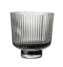 Ljuslykta Glas Grå Ø9 cm
