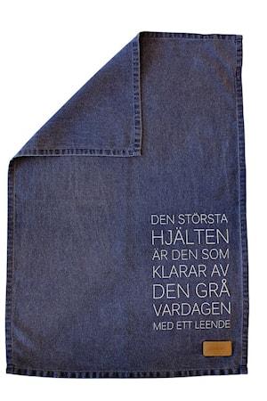"""Kökshandduk """"Största hjälten"""" blå"""