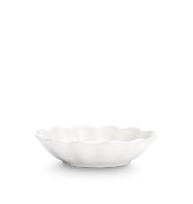 Ostronskål Liten Vit 18x16 cm