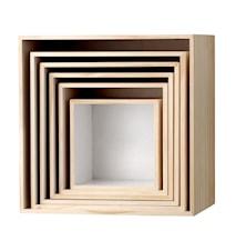 Build Deko-Wandboxen 6St - Weiß
