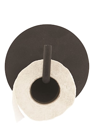 Toalettpapirholder Text 12,5 cm - Svart