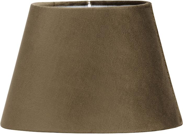 Lampeskjerm Oval Fløyel Brun
