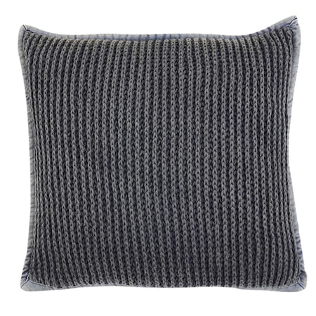 Pure knitted Kuddfodral 45x45 - Blå