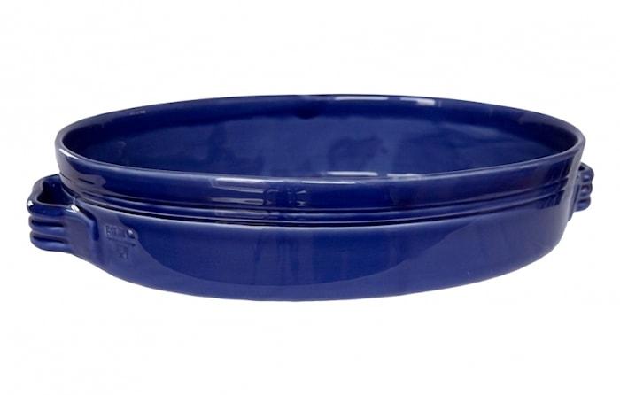 Toscana Gratängform 34x23 cm Keramik Marinblå