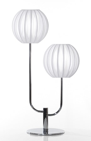 Bordslampa Plastband Duo Vit / Krom