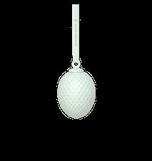 Rhombe Pääsiäiskoriste Soft green Posliini 7,5 cm