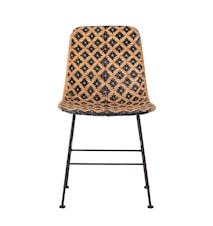 Settty Dining Chair, Black, Rattan