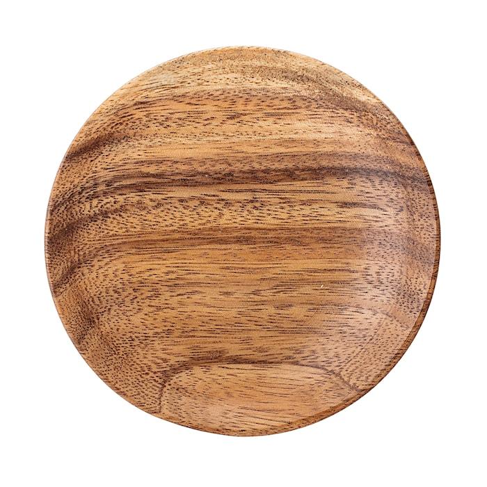 Plate, Brown, Acacia