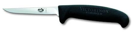 Fuglekniv, sort Fibrox, lille håndtag