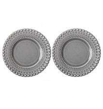 DAISY Desserttallerken Soft Grey 22 cm 2-pak