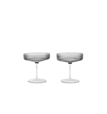 Ripple Champagneglas 2-pack Smoked Grey