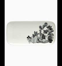 Siirtolapuutarha Lautanen 12 x 24.5 cm Valkoinen/Musta