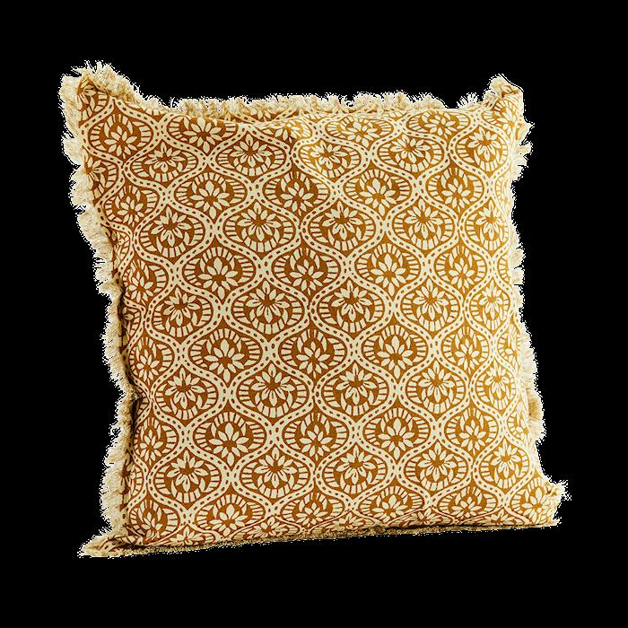 Velvet printed cushion cover