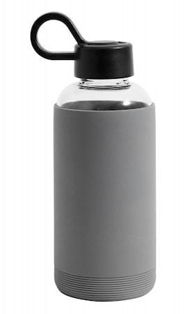 Glassflaske med silikon Grå