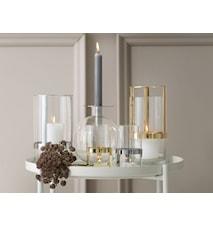 Hold Lyslykt og Vase Medium Sølv