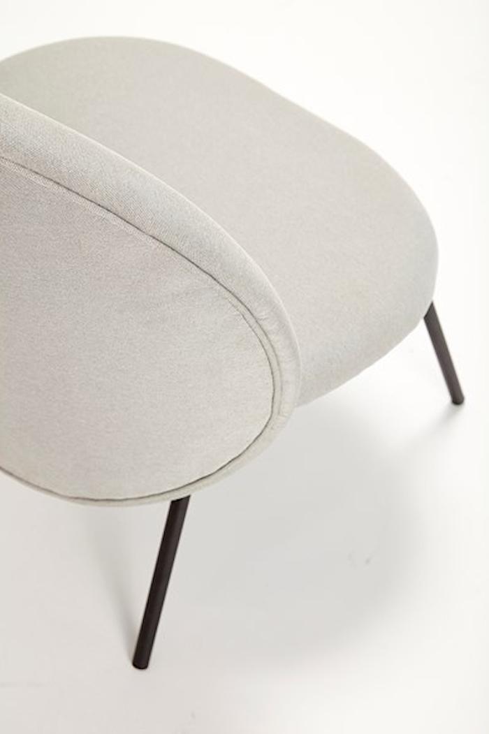 Loungestol 67x55xh76 cm - Svart/grå