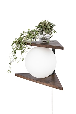 Vägglampa Angolo Trä Brun