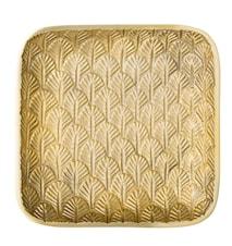 Bakke Aluminium 17,5x17,5 cm Guld