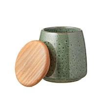 Burk med Lock Grön 12 cm