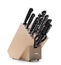 CLASSIC Knivblokk Sett 12 deler