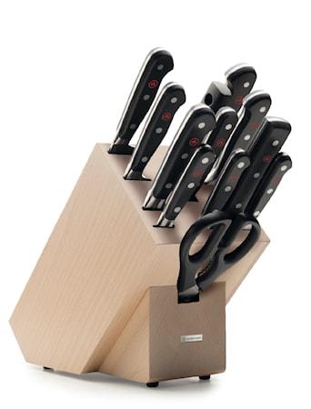 CLASSIC Knivblock Set 12 delar