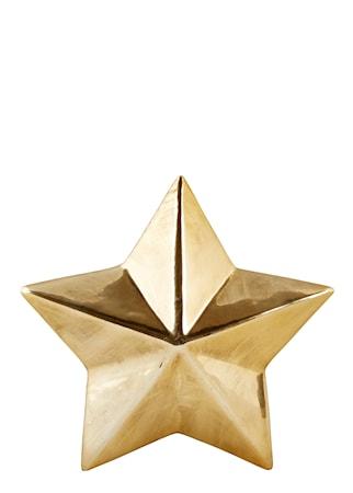 Figur Stjärna Guld 12x12 cm