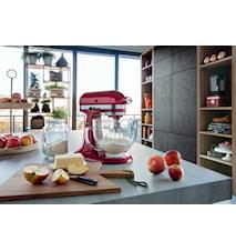 Artisan glas-skål till köksmaskin klar med silikonlock 4,8 liter KitchenAid