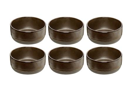Raw Skål Metallic Brown 6 st