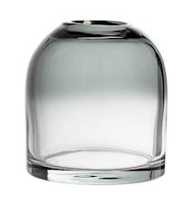 Vase graues Glas 12x13cm