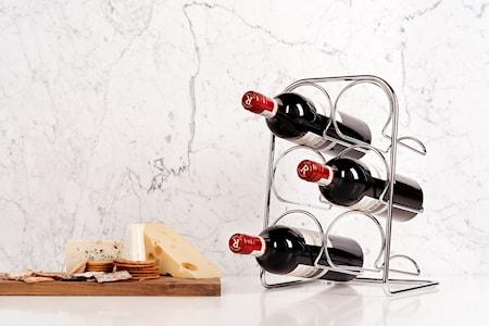 Pisa Vinstativ 6 flasker Chrom