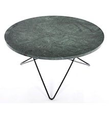 O table sofabord - green indigo marmor/svart