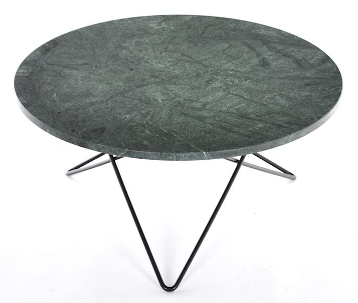 O table sofabord - green indigo marmor/svart