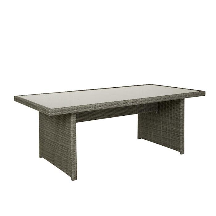 Rosario Spisebord med glasstopp 200 x 100 cm