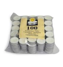 Lämpökynttilä valkoinen 100kpl