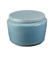 Vintage Tarro con tapa Cerámica Verde Azulado 14x10 cm