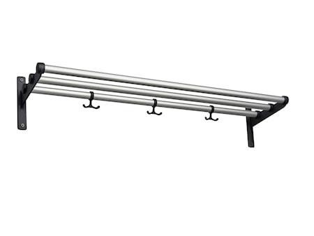Nostalgi aluminium/svart L=1000 mm hatt/skohylla