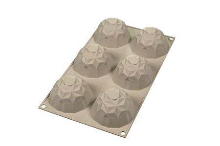 Design 3D Silikonform Mini Gemma D:6.8 cm Ljusgrå