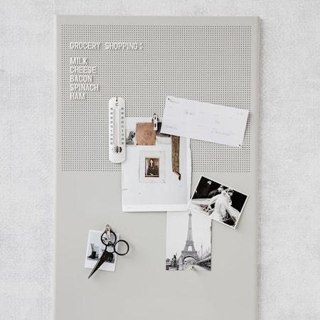 Grid opslagtavle - grå