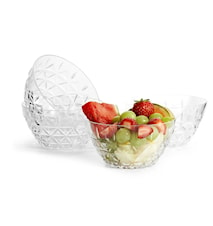 Picknick Skål Transparent 12cm 4-pack